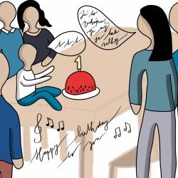 První narozeniny.
